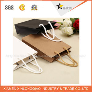 High Quality Recyclable OEM Brown Paper Shopping/Packing/Gift Bags with Handle pictures & photos