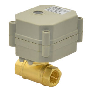 RoHS Actuator Motorized Controller Valve 2 Way OEM Electric Brass Valve (T10-B2-C) pictures & photos