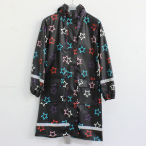 Black Basement Star PU Adult Raincoat pictures & photos