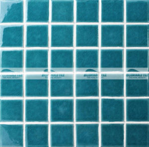 48X48mm Green Crackle Ceramic Swimming Pool Mosaic Tile (BCK714)