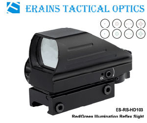 Erains Tac Optics Tactical Reflex Sight with 4 Variable Red DOT Reticles Scope with Both 21mm or 11mm Dovetail Base pictures & photos