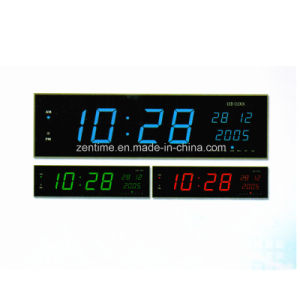 Electric LED Big Time Digital Wall Clock with Perpetual Calendar pictures & photos
