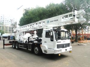 Professional Supply HOWO Truck-Mounted Water Well Core Drilling Rig of 400meters Depth pictures & photos