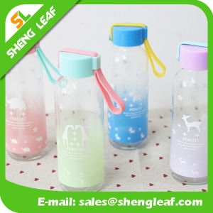Transparent Logo Custom Logo Bottle with Strap (SLF-WB040) pictures & photos