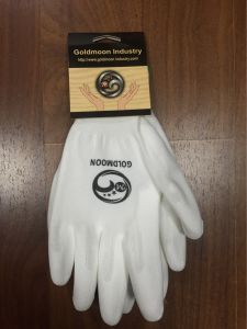 13G Polyester Lining PU Coated Safety Work Glove pictures & photos