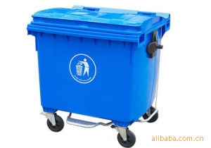 1100L Plastic Wheelie Waste Container pictures & photos