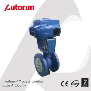 Intelligent Motorized V Type Flanged Ball Valve pictures & photos