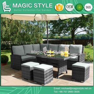 Rattan Sofa Set Sofa Set Wicker Sofa Patio Combination Sofa Hotel Project Leisure Sofa (Magic Style) pictures & photos