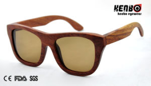 Hot Sale Square Frame Wooden Sunglasses CE FDA Kw025 pictures & photos