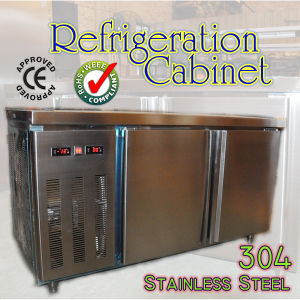 Stainless Steel 304 Refrigeration Cabinet with Two Doors pictures & photos