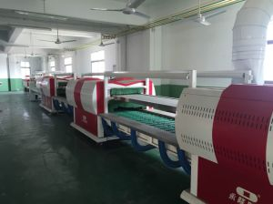 Computerized Energy-Saving Infrarend Double-Layer Sole Attaching Line Shoe Production Line pictures & photos