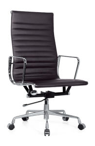 Office Chinese High Back Ergonomic Chrome Iron Leather Manager Chair (A2006) pictures & photos