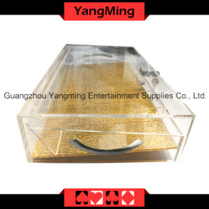 High-Grade Acrylic Handle Chip Tray with Lock-1 (YM-CT10) pictures & photos