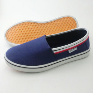 Latest Men′s Slip on Casual Shoes Injection Canvas Shoes (PY16-03-5) pictures & photos