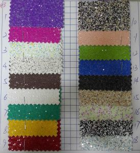 Multicolor Chunky Glitter Wallpaper Fabric for Decoration pictures & photos