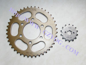 Yog Motorcycle Spare Parts Sprockets Kit Rear Front 45 Steel Silver Gold Color Bajaj Boxer Indian Model pictures & photos