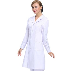 Hot Sale Medical Wear White Lab Coat of Cotton pictures & photos