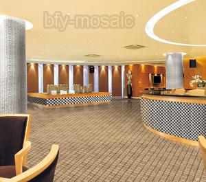 Stone Mosaic Lantern Shape Floor Tile (FYSL386)