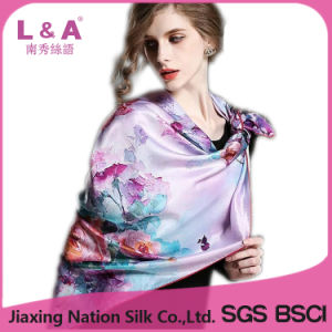 Multicolour 100% Silk Stain Luxury Scarf pictures & photos