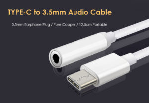 USB Type C to 3.5mm Headphone Earphone Audio Cable Adapter pictures & photos