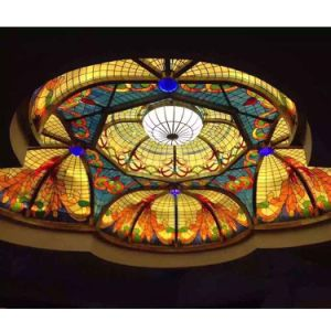 Interior Room Building Decorative Materials Stained Glass Ceiling Dome for Sale pictures & photos