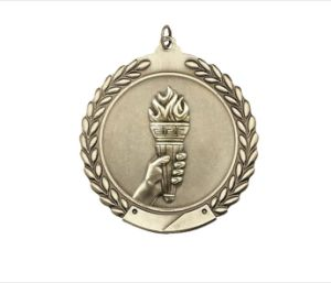 3D Die Casting Embossed Bespoke Enamel Torch Medals pictures & photos