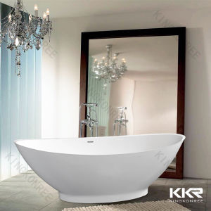 Small Sizes Resin Stone Freestanding Bathtub for Person 061203 pictures & photos