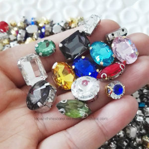 Fancy Glass Crystal Sew on Rhinestone with Claw (SW-Rectangle/10*14mm) pictures & photos
