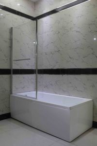 Bathroom Panel L Shaped Corner Bath Screen Shower Screen pictures & photos