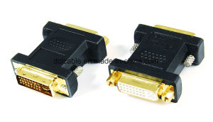 DVI24+5 Female to DVI 24+5 Male/Female Adapter pictures & photos