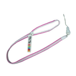 Prmotional Customized Zipper Lanyard with Rubber Tag pictures & photos