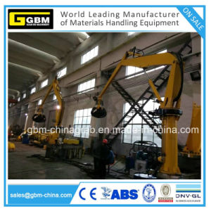 1ton 5m Material Handling Crane with Grab with ABS BV Certificate pictures & photos