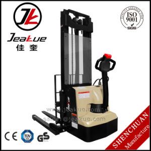 Jeakue 1.2 Ton Newest Wide Leg Fork Full Electric Stacker pictures & photos