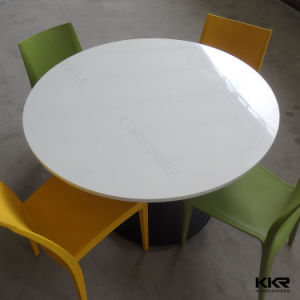 Solid Surface Hotel Restaurant Furniture Stone Table with Chairs pictures & photos