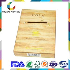 Custom Made Wood Grain Paper Box with Open Window for Facial Mask