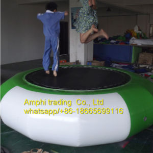 Inflatable Water Trampoline, Adult Bouncer Jumping Bed/Water Park Floating