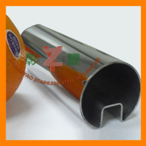 Welded Stainless Steel Round Slotted Tube /Pipe for Glass pictures & photos