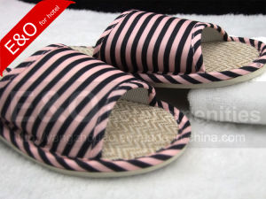 Flax & TPR Sole Indoor Room Hotel Slippers pictures & photos