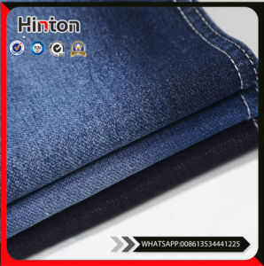 High Stretch Blue Indigo Knitted Denim Fabric pictures & photos