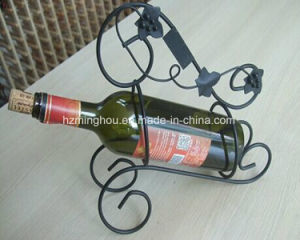 Creative Metal Flower Tabletop Wine Bottle Holder for Decor pictures & photos
