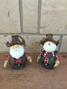 Polyresin Christmas Gift Sculpture Snowman for Decoration pictures & photos