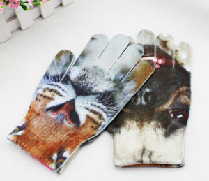 New Arrival 3D Pattern Print Knitting Gloves pictures & photos