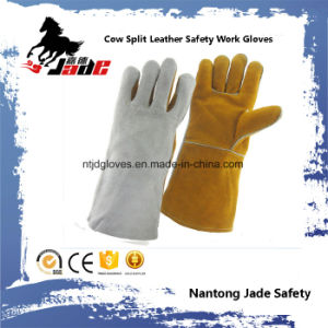 Double Color Cowhide Industrial Leather Safety Welding Work Glove pictures & photos