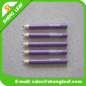 Purple Round Short Pencil with One Print Logo Color pictures & photos