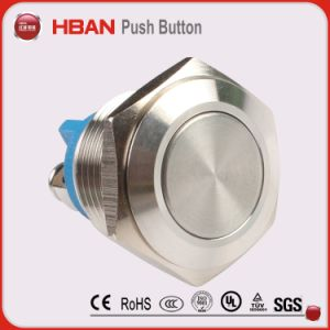 Hban CE RoHS (19mm) Flat Momentary Industrial Anti-Vandal Switch pictures & photos
