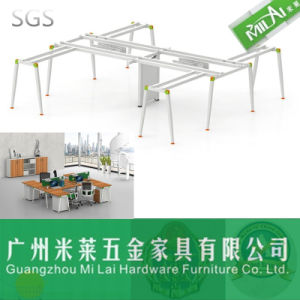 Good Quality Office Furniture Partition Workstation Table Leg for 4 Person pictures & photos