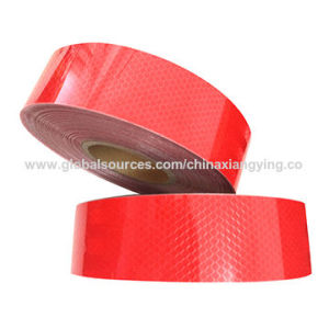 Red Customized Color Pet Reflective Tape for Road Warning pictures & photos