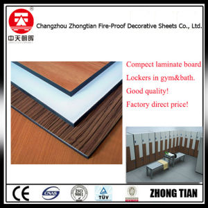 Water Resistant Compact Laminate for Toilet Partition Board pictures & photos