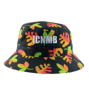 Custom Floral Polyester Fashion Summer Outdoor Fishing Sunhat Bucket Hat pictures & photos