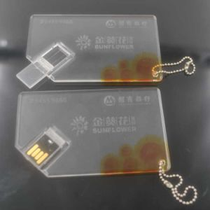 Crystal Card Design USB Flash Drive pictures & photos